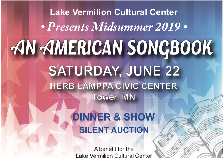 The Lake Vermilion Cultural Center Announces Details for 2019 Midsummer Gala